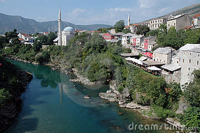 View of Mostar, Bosnia & Herzegovina