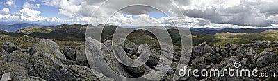 View from Mount Kosciuszko, Australia.