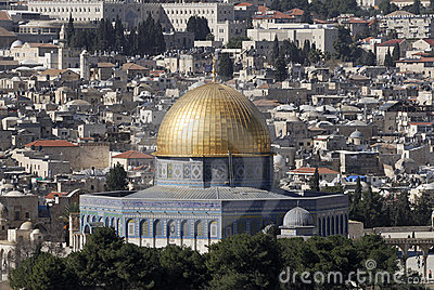 View from the Mount of Olives of The Temple Mount