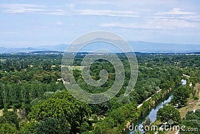 View of Mount Ventoux from Villeneuve-lès-Avignon