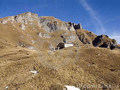 View of a mountain chalet