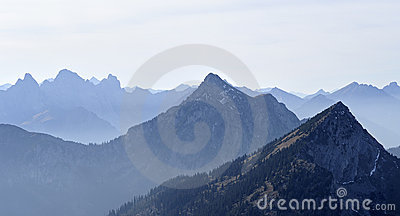 View of the mountains of the Alps in Austria