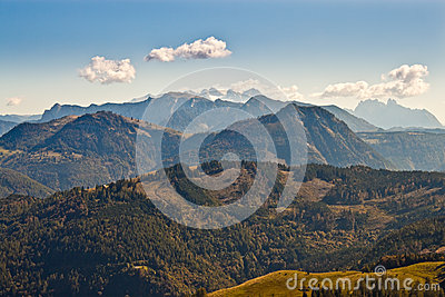 View of mountains in austrian Alps
