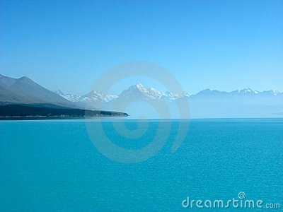 View of Mt. Cook from Lake Pukaki