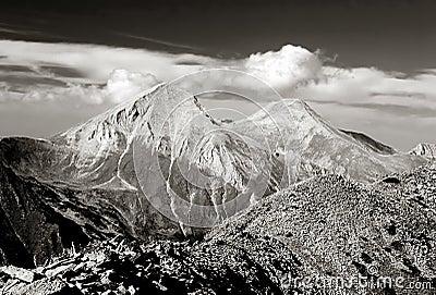 A view of Mt. Vihren, the highest peak in Eastern Europe