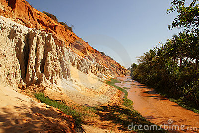 View of muddy tropical river