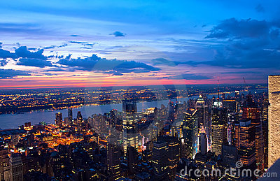 View on New York and New Jersey