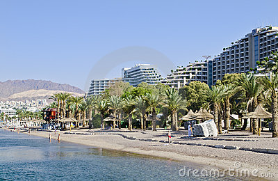 View on northern beach of Eilat, Israel