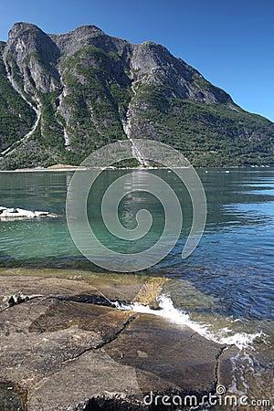 View in norwegian fjord