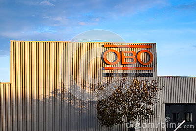 View on OBO Betterman industrial building Editorial Photo