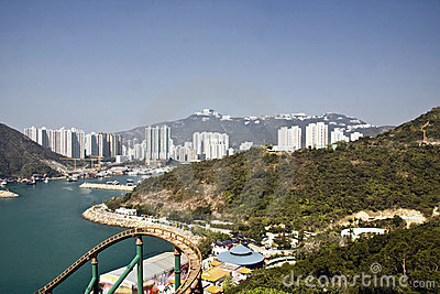 View from ocean park in Hong Kong