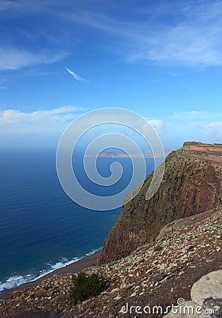View of Ocean steep Coast