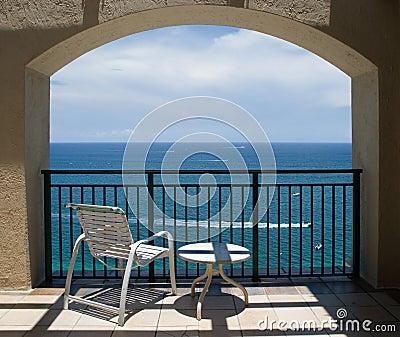 View of Ocean Under Arch