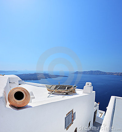 Free View Of A Building On Santorini Island, Greece Royalty Free Stock Images - 23469679
