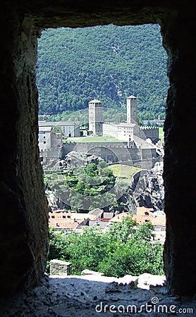 Free View Of Bellinzona Castles In Switzerland Stock Image - 48663931