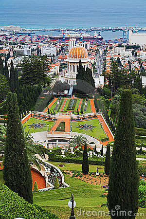 Free View Of Haifa, Bahai Gardens And Shrine Of The Bab Stock Images - 14007624