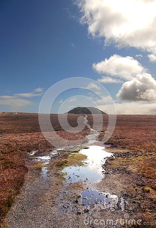Free View Of Knocknarea Sligo Ireland After The Storm Stock Photo - 126826240