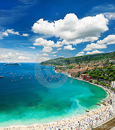 Free View Of Luxury Resort And Bay Of Cote D Azur Royalty Free Stock Image - 20726616