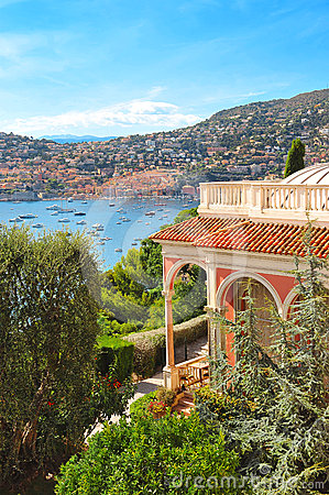 Free View Of Luxury Resort And Bay Of Cote D Azur Royalty Free Stock Photos - 24443538