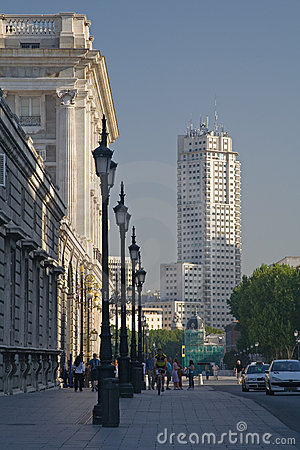 Free View Of Madrid Tower Stock Photography - 1449642