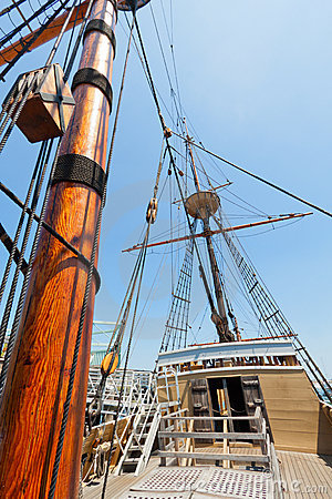 Free View Of Mast And Rigging On The Tall Sail Ship. Royalty Free Stock Images - 20844939