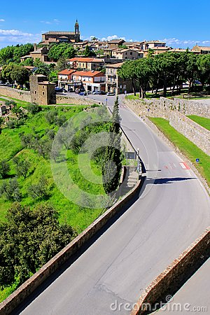 Free View Of Montalcino Town From The Fortress In Val D`Orcia, Tuscan Stock Photo - 101708780