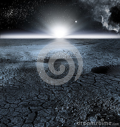 Free View Of Moon Landscape, Or Lunar Landscape Stock Photography - 91260832