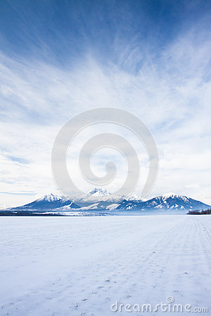 Free View Of Mountain Peaks And Snow In Winter Time, High Tatras Stock Image - 29161561