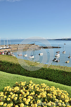 Free View Of New Quay Harbour, Cardigan Bay. Stock Photos - 28153393