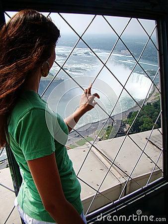 Free View Of Niagara Horseshoe Falls From Skylon Tower Royalty Free Stock Image - 57105216