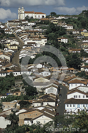 Free View Of Ouro Preto, Brazil. Stock Images - 44053574