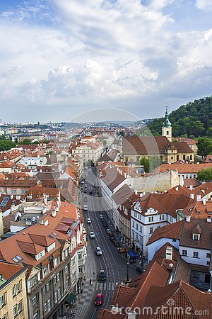 Free View Of Prague From The Tower Of The Cathedral Of St. Peter. Panorama Of Prague. Architecture Of Prague Royalty Free Stock Photos - 138770428