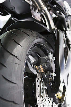 Free View Of Rear Motorbike Tyre Stock Images - 7913634