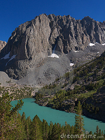 Free View Of Temple Crag Over Second Lake Royalty Free Stock Image - 21659816