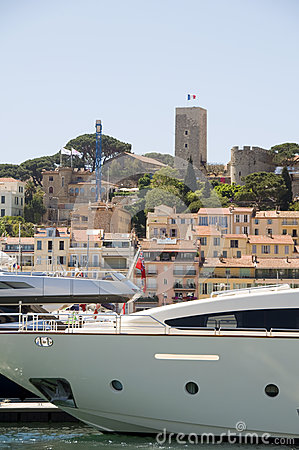 View of Old City  Cannes France harbor