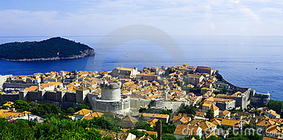 View of the old city of Dubrovnik. Croatia