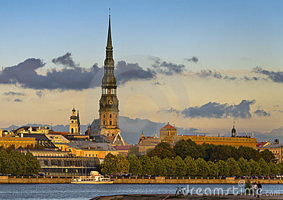 View on the old city of Riga, Europe