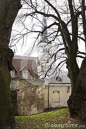 View on Old city of Tallinn