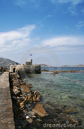 View of old fort -Paros Island, Greece