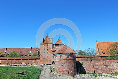 View on old german castle in Malbork.
