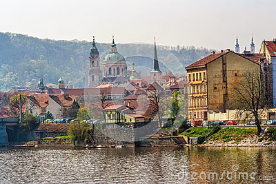 View on old  Prague