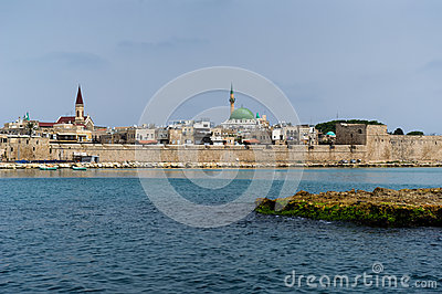 View On The Old Town Of Akko, Israel Royalty Free Stock Images - Image: 25495979