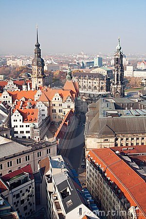 The view on old town Dresden