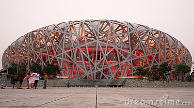 A View of the Olympic National Stadium, Beijing Editorial Photography