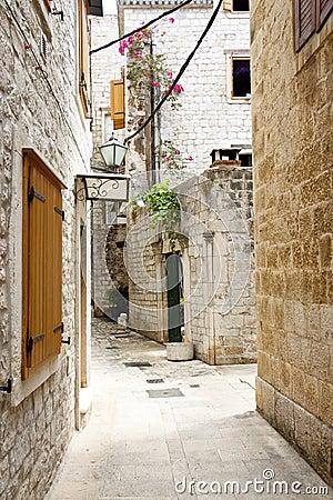 Free View On Narrow Alley - Trogir, Croatia. Stock Photos - 25195113