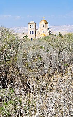 Free View On St.John Church Near Baptism Site Royalty Free Stock Image - 23883426