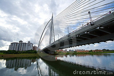 A view of one  steel bridges in Putrajaya,
