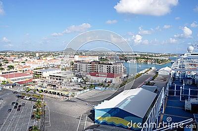 Oranjestad from cruise ship