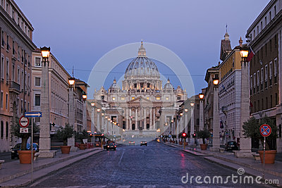 View os Saint Peters in Rome, Italy