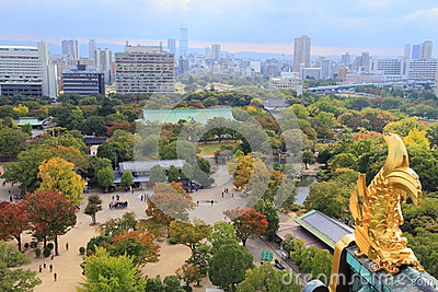 View from Osaka Castle, Osaka, Japan